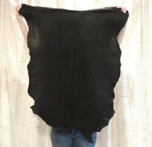 BLACK BUCKSKIN Leather Hide for Native Crafts Taxidermy Bags Laces Flute Bags