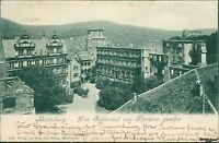 Ansichtskarte Heidelberg Schlosshof vom Torturm gesehen 1900  (Nr.9008)