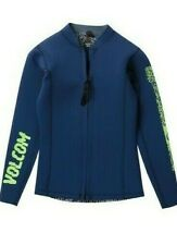 NWT $80 Volcom Big Boys' Chesticle Wetsuit Jacket Camper Blue   Youth Size 12