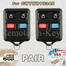 2x Car Key Fob Transmitter Alarm Remote Control for 2001-2012 Ford Escape 4b