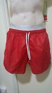 Mens Vtg Soffe USA liight Shiny thin nylon sports Wetlook Soccer Shorts M red