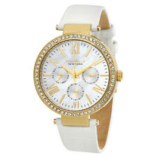 Caravelle by Bulova Mother Of Pearl Dial Ladies Multifunction Watch 44N104