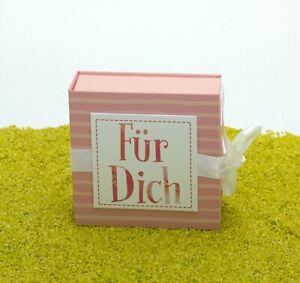 für DicHergo Geschenkbox Geschenkschachtel mit Schleife - Für Dich 10 x 10 cm