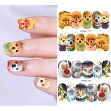 10 Sheets Lemooc Nail Water Decals Animals Nail Art Transfer Stickers