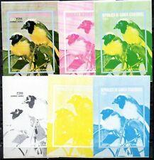 EQUATORIAL GUINEA BIRDS 130e  TRIAL COLOR PROOFS MNH x 6 S/S