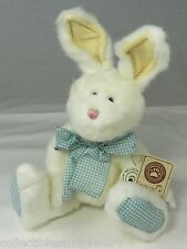 Boyds Bears Petey Thumpster Plush Bunny Rabbit White Blue Gingham NWT 52010-09