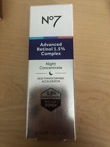 NO7 ADVANCED RETINOL 1.5% COMPLEX NIGHT CONCENTRATE 30ML