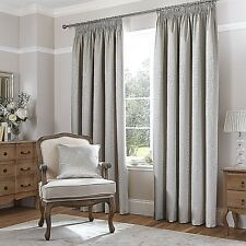 "Catherine Lansfield 66"" x 90"" Cream Thermal Jacquard Lined Curtains Tape Top"