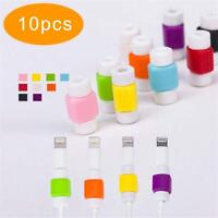 10pcs Protector Saver Cover for Apple iPhone Lightning USB Charger Cable Cord ZH