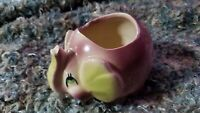 Vintage Pottery Elephant #759 Shawnee Planter Pudgy Purple and Green Trunk Up