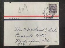 1950 Ireland Paquebot Cover To Roosevelt Hotel Washington DC USA US Lines