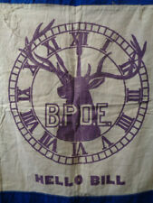 Vintage Bpoe Elks Banner Flag Lot 218