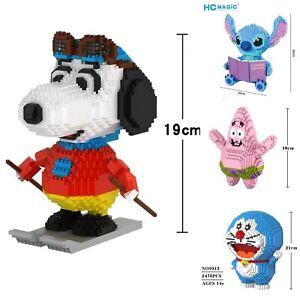 DIY Building Blocks Nanoblock Snoopy Stitch Totoro SpongeBob Figure Gift DIY Toy