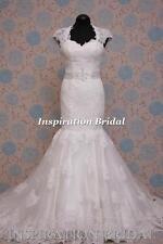 1392 White Ivory Wedding Dresses dress keyhole back lace up mermaid uk  elliana