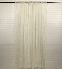"Pair Sheer Lace Curtain Panels Floral Bottom Border 38"" x 63"" long Off White"