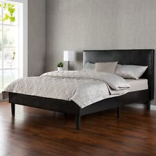 Zinus Deluxe Faux Leather Upholstered Platform Bed with Wooden Slats King