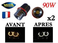 ► 2 Angel Eyes Vega® LED 2*90W Bridgelux Blanc Xénon BMW avant 2008