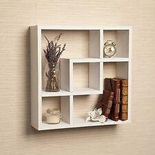 Danya B™ Geometric Square  Wall Shelf with 5 Openings White FF4513W