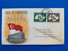 SINGAPORE MALAYA 1961 NATIONAL DAY FDC COVER ( KUALA LUMPUR ) POSTMARK UNIQUE