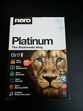 Nero Platinum The Multimedia King 2019 6 in 1 Suite Record Burn Video Software