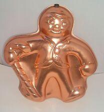 Gingerbread Man Candy Cane Cake Pan Jello Mold Copper Christmas Decor Vintage