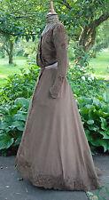 Antique Dress 1899 Walking Outfit 2 - Piece Label Mme Monin Robrechts - Exelles