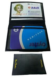 Soft Leather Bus Pass Oyster Credit Card Travel Wallet Holder Pouch FREE P&P