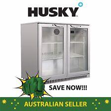 Husky Stainless Steel Double Door Back Bar Fridge (FACTORY SECONDS)