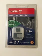 SanDisk 1 GB Memory Stick Micro (M2) Card with Memory Stick PRO Duo