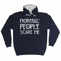 Normal People Scare Me HOODIE hoody birthday gift present fashion nerd geek top
