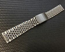 Vintage steel watch bracelet Beads of Rice 17mm straight ends for Bubbleback BoR