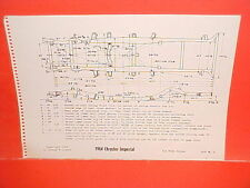 1964 CHRYSLER IMPERIAL CONVERTIBLE CROWN LEBARON SEDAN FRAME DIMENSION CHART