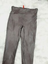 Spanx Faux Leather Leggings for Women, Size M - Brown