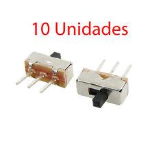 x10 Interruptor Palanca Vertical 2 Posiciones 3 Pines PCB 1P2T SS12d00G4 4x8mm