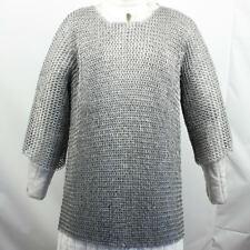 Medieval Chain Long Mail Shirt & Coif Armor Set, Medium - Large Man - NEW