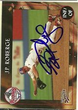2001 Reading JP J.P ROBERGE Signed Card autograph PHILLIES yankees royals