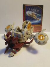 Bakugan Pyrus Helix Dragonoid 680G w/ Barias Battle Gear 80G and Barias Card