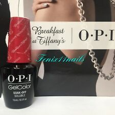 Opi GelColor Hp H09 Fire Escape Rendezvous ruby glitter gel color nail polish