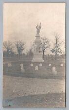 RPPC Civil War Infantry Graveyard BELOIT WI Antique Cemetery Photo Monument~1910