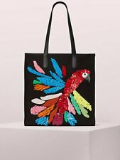 Kate Spade Kitt Parrot Embellished Extra Large North South Tote  BNWT!