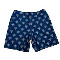 Talbots Women's Casual Denim Shorts ~ Sz 8 ~ High Waist ~ Blue ~ 100% Cotton