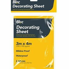 3M x 4M Polythene Painting Decorating Cover Plastic Waterproof Dust Protection
