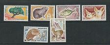 SOMALI COAST 1962 ANIMALS TREE BIRDS (Sc 287-92 complete set) VF MLH *read desc*