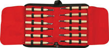 Rough Rider Wood Carving Set H6123 Contains twelve wood carving knives with 4 1/