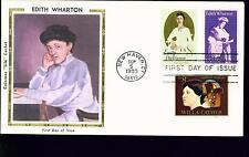 1980 FDC - Scott# 1832 COMBO - Edith Wharton - Colorano Silk Cachet   UA