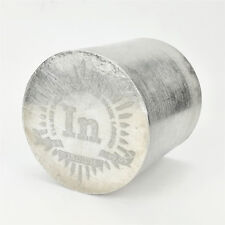 1Kg Indium Metal Cylinder 57×57mm 99.95% Engraved Periodic Table