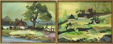 1950-1999 Originalgemälde (1900-1949) aus Leinwand mit Expressionismus auf Landschaft & Stadt