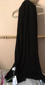 NWT Bartolini Italian Black Cashmere Blend Large Scarf /wide Shrug