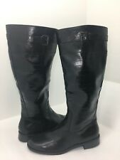 b730a6e1cf9 A2 By Aerosoles High Ride Women s Riding Boots in Black Croco Women s Boots  ...