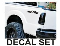 4x4 Truck Bed Decals, Glossy Black (Set) for Ford Super Duty, F-250 etc.